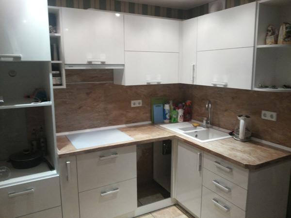 Кухня компактная белая