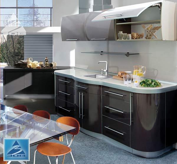 Кухня компактная глянцевая