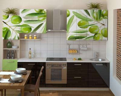 Кухня компактная с фотопечатью