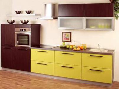 Кухня красочная двухцветная