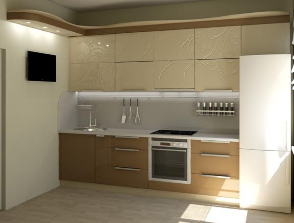 Кухня красочная с декором