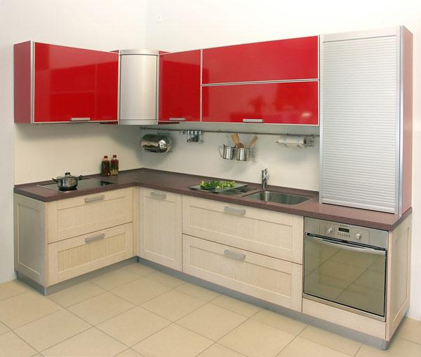 Кухня лаконичная двухцветная