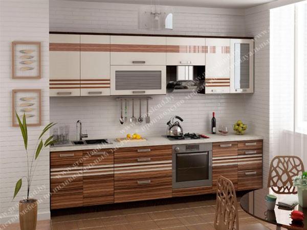 Кухня линейная комбинированная