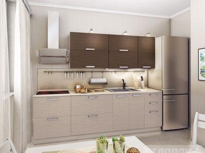 Кухня линейная в современном стиле