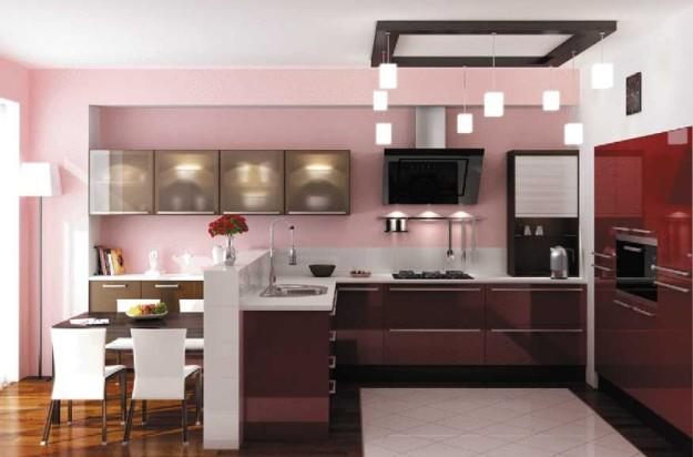 Кухня «Пластик Бордо»