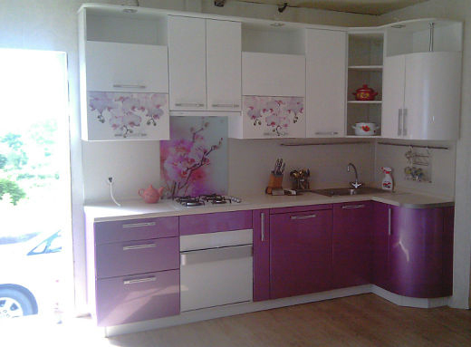 Кухня с цветочным рисунком