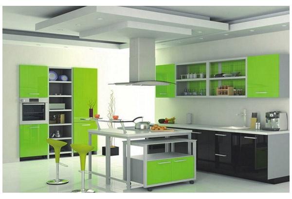 Кухня с двухцветным оформлением