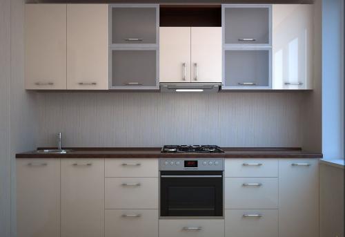 Кухня с фасадом белый глянец