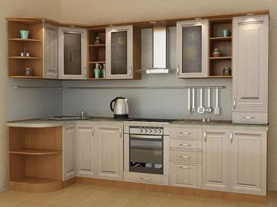 Кухня с нишей для духового шкафа