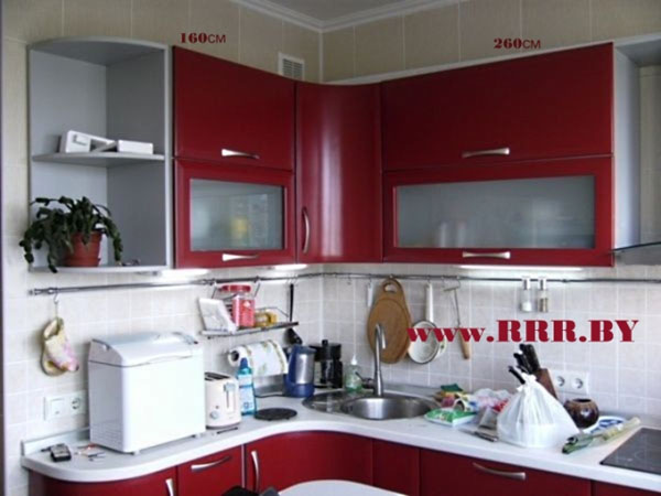 Кухня с закругленными углами