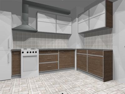 Кухня со вставками лакобель