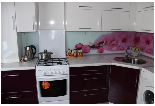 Кухня современная с фотопечатью