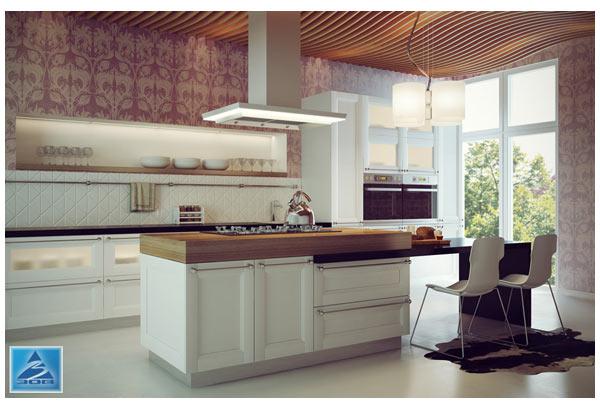 Кухня современная с островом