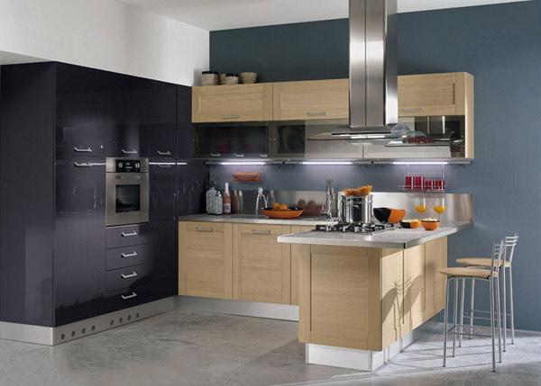 Кухня современная с подсветкой