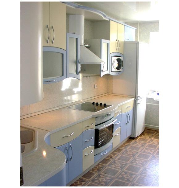 Кухня современная с волнистым дизайном