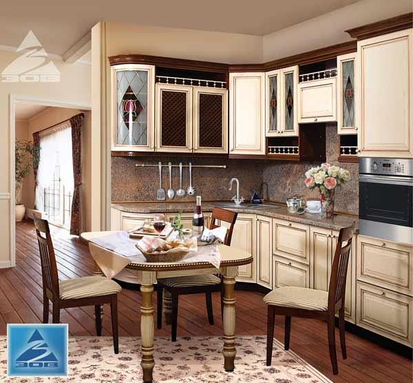 Кухня светлая с декором