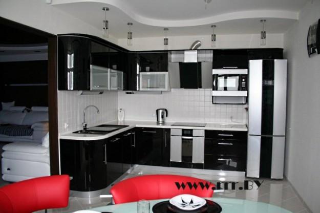 Кухня угловая «Black&Silver»