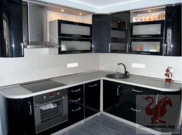 Кухня угловая черная
