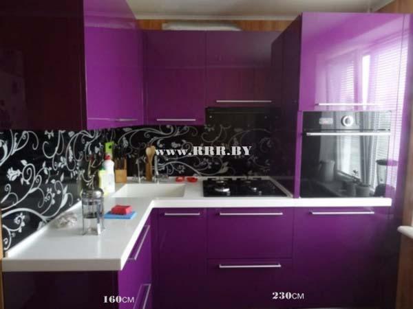 Кухня угловая цвета индиго