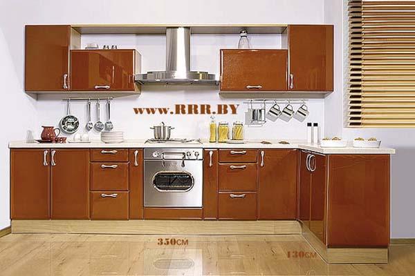 Кухня угловая цвета топленого шоколада