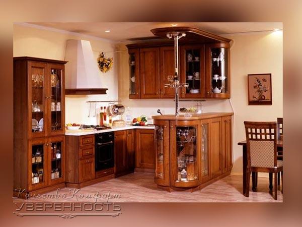 Кухня угловая для классического интерьера