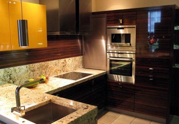 Кухня угловая двухуровневая