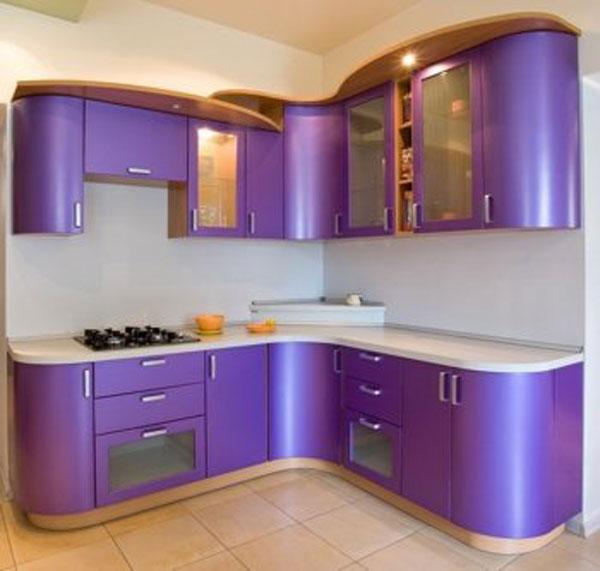 Кухня угловая фиолетовая