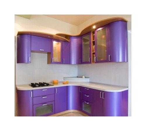 Кухня угловая фиолетовая К-5