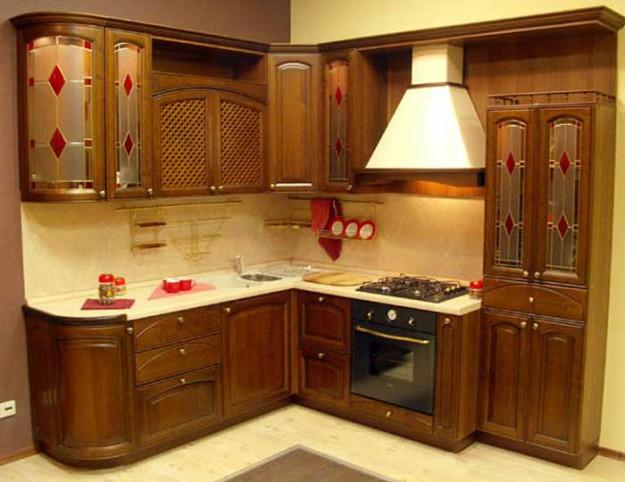 Кухня угловая из дерева