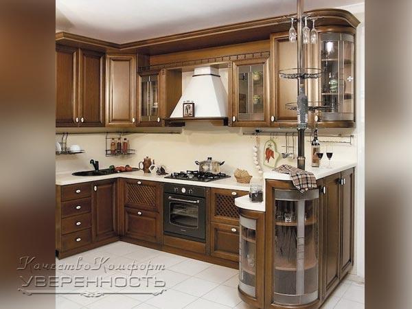 Кухня угловая из массива