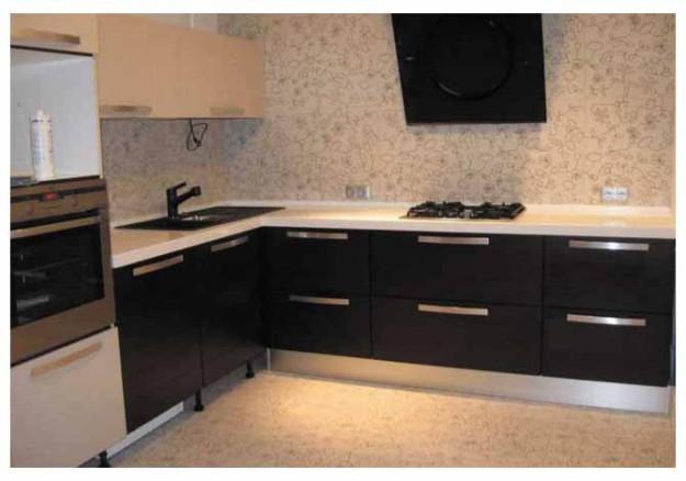 Кухня угловая из МДФ черная
