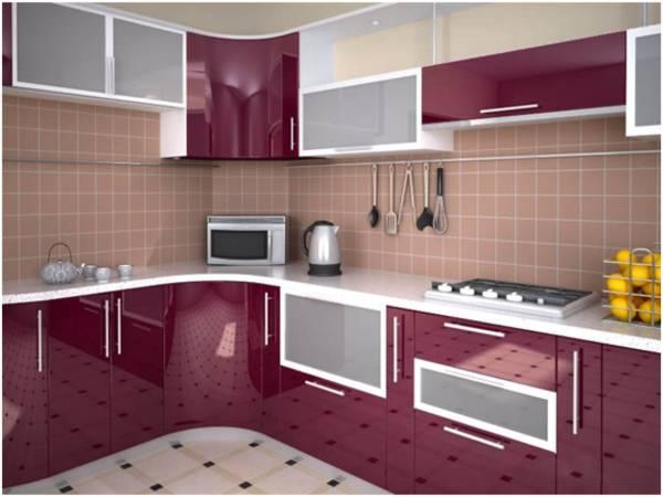 Кухня угловая из пластика