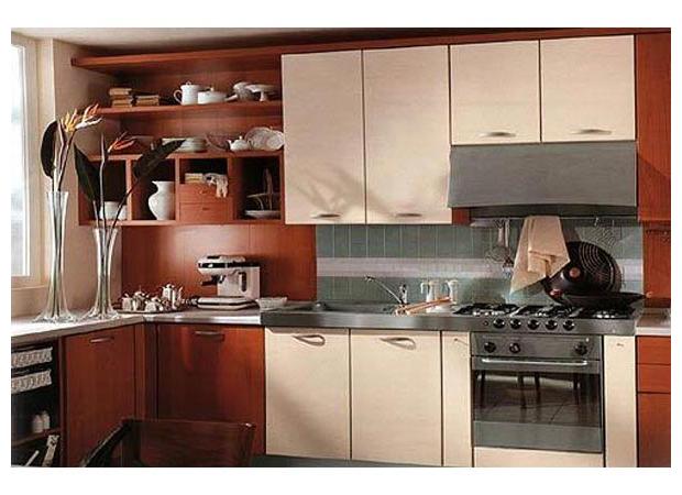 Кухня угловая комбинированная
