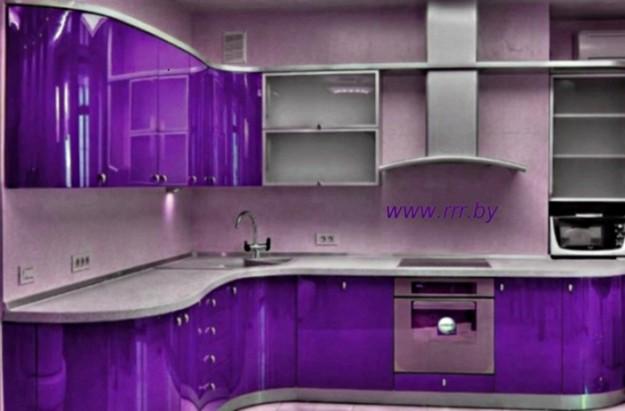 Кухня угловая крашеная