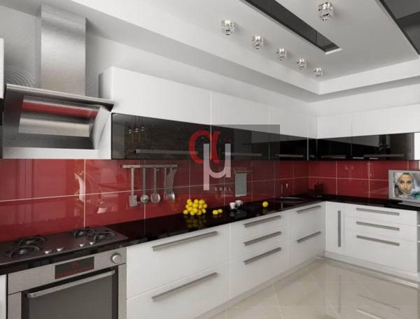 Кухня угловая крашеный МДФ