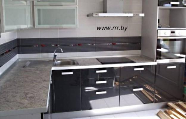 Кухня угловая (крашеный МДФ)