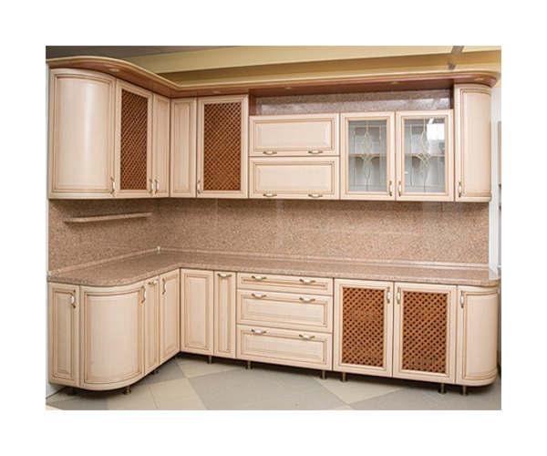 Кухня угловая МДФ Турин Дуб К-24