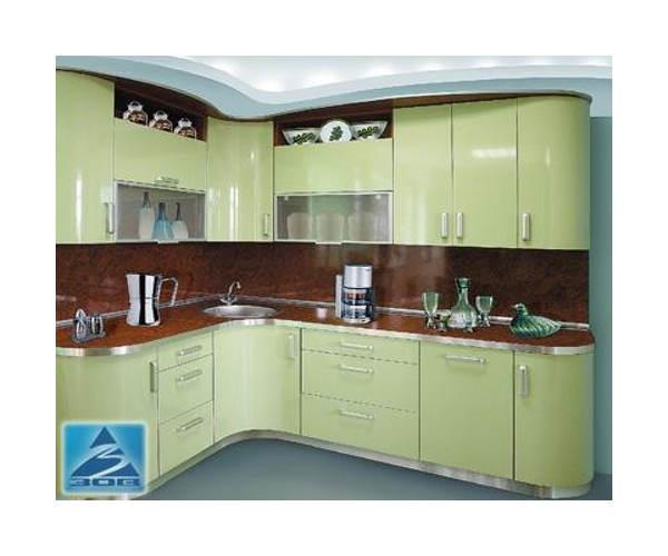 Кухня угловая постформинг глянец К-21