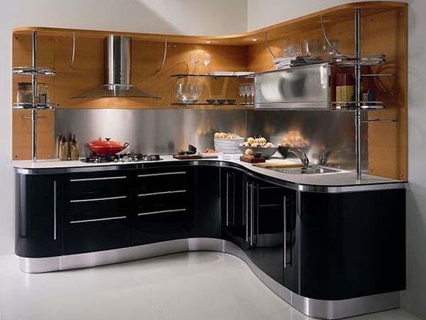 Кухня угловая радиусной формы