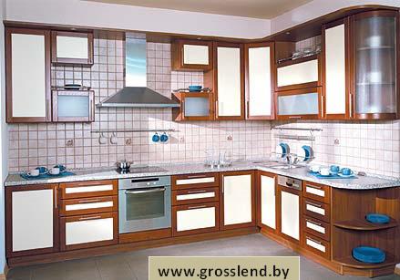 Кухня угловая с белым фасадом