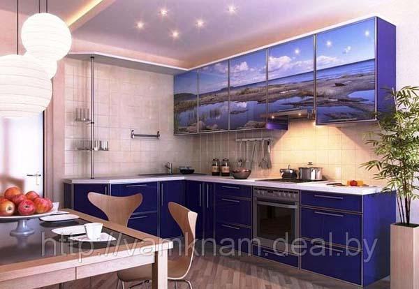 Кухня угловая с фотопечатью