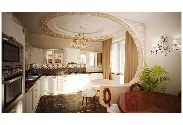 Кухня угловая с красочным дизайном