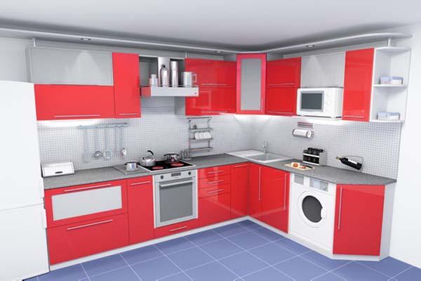 Кухня угловая с радиусным карнизом