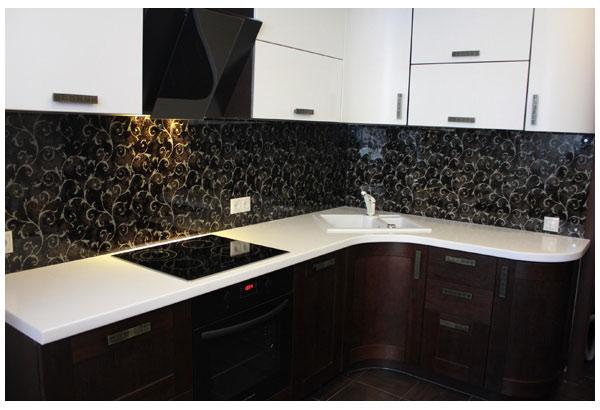 Кухня угловая современная с подсветкой