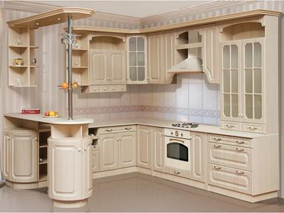 Кухня угловая в цвете венге