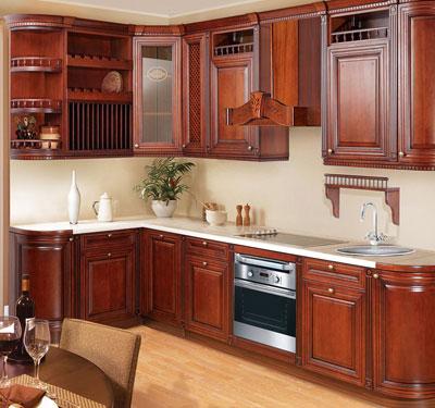 Кухня угловая в стиле кантри