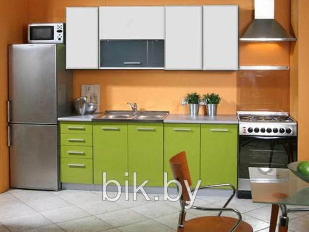 Кухня «Валерия» яблочно-зеленая