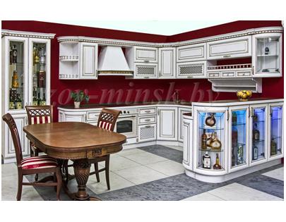Кухня ЗОВ №2 «Массив ясеня»