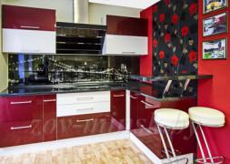 Кухня ЗОВ №41 «Бордовая»