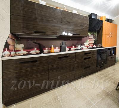 Кухня ЗОВ №6 «Зебрано-Оранж»